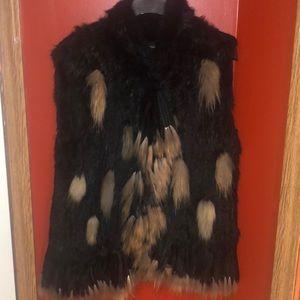 Knitted fox vest